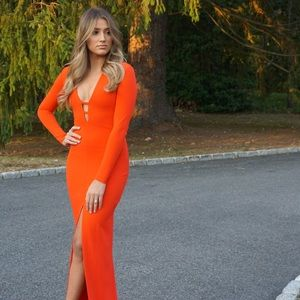 Red Solace London gown